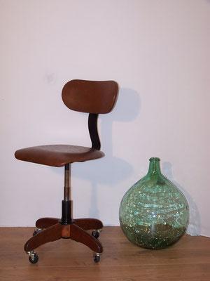 Chaise de bureau d'avant guerre Polster Gleich