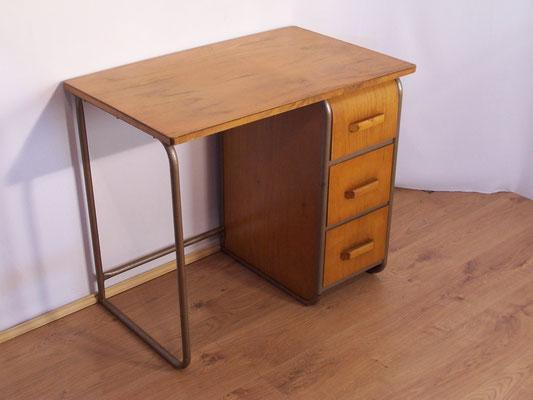 Bureau bois et métal tiroir arrondi