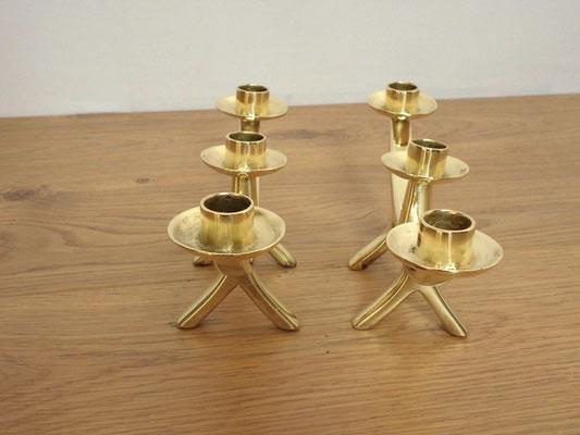 paire de chandeliers vintage en laiton