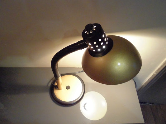 Lampe de bureau Aluminor or Années 80 - Vintage