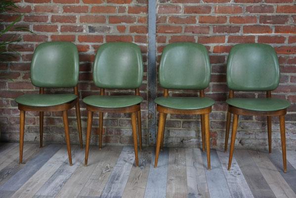 Suite de 4 chaises vintage des années 50 design Pierre Guariche