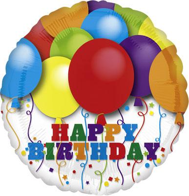 """""""Happy Birthday"""" -  Folie, einzeln verpackt 43cm"""