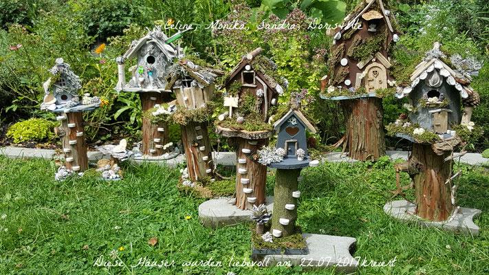 Diese wunderschönen, mit viel Liebe angefertigten Häuser wurden am 22.07.2017 von den Teilnehmern kreiert.