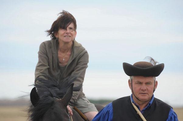 Auf dem Rücken eines edlen Nonius Pferdes (c) Christa Brunner