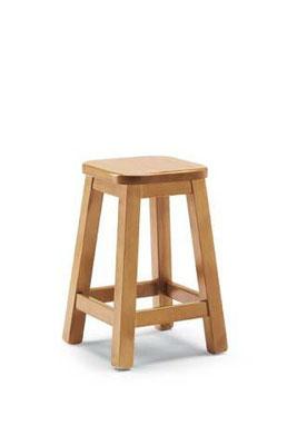 sgabello legno pino h.45 COD. H/309 B TINTA NATURALE