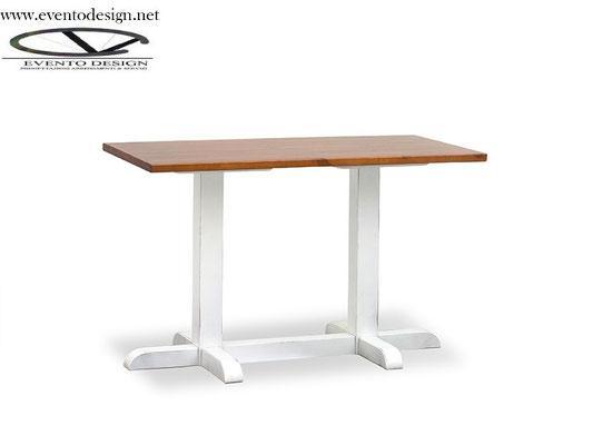 art.28 tavolo 130x70x3base a torre doppia  h.75