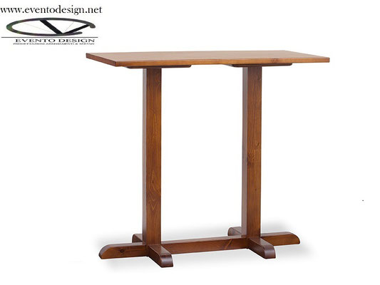 art.30 tavolo 130x70x3base a torre doppia  h.110