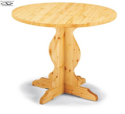 art.24 tavolo tondo d.90 in pino naturale