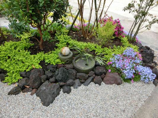 溶岩石と石臼