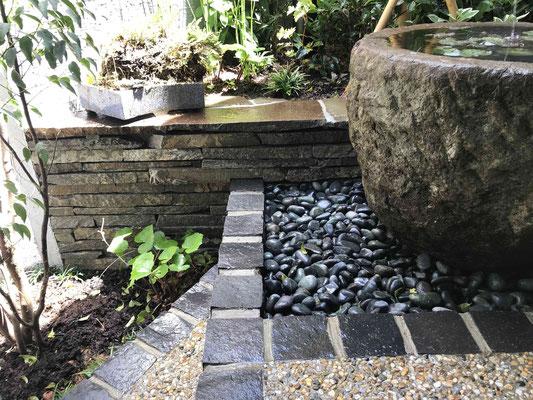 自然石小端積