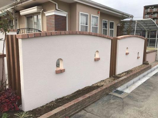 曲線の塗り壁
