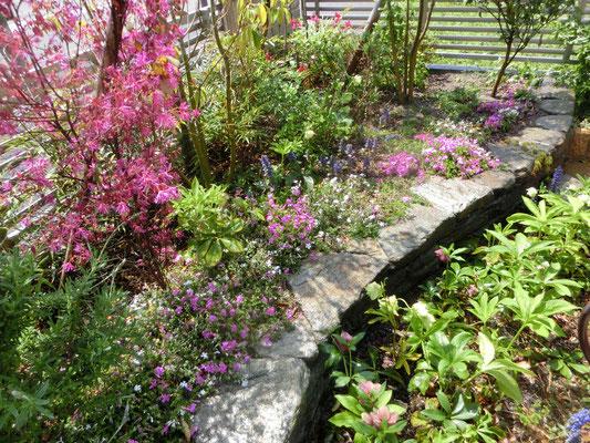石張花壇とお花