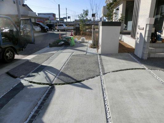 曲線でコンクリートもやさしく