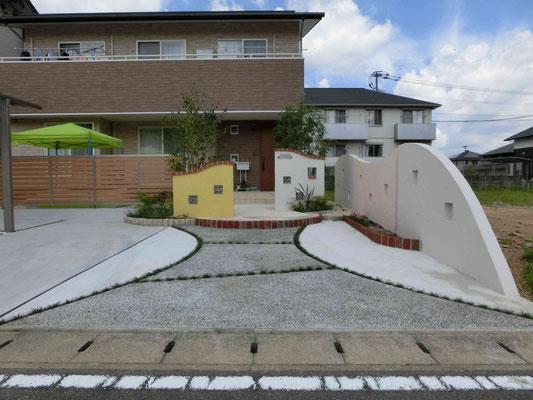 コンクリート洗い出しのアプローチ