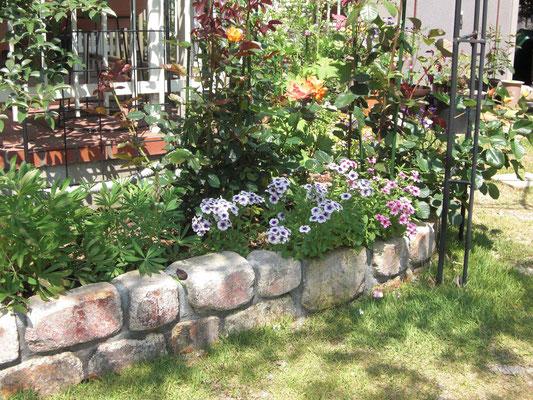 クラシックレンガの花壇
