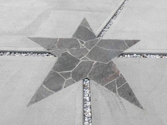 石張りでスター(星マーク)