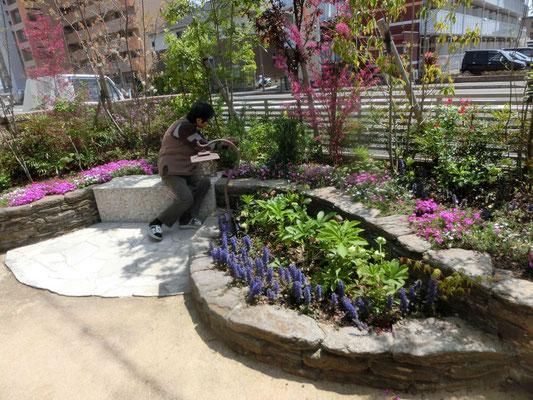 お庭(お花)いじりがしやすいお庭