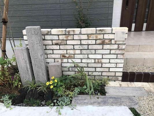 クラシックレンガの門塀