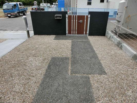 コンクリート洗い出し仕上げのアプローチ