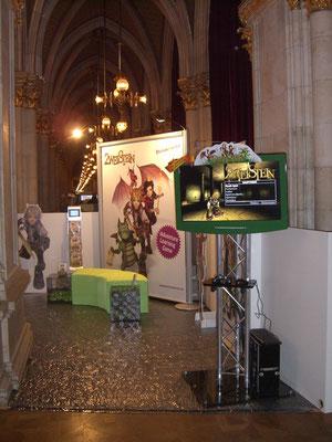Brainmonster Messestand im Rathaus Wien