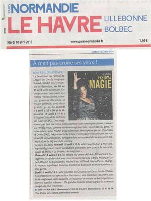 Spectacle pour l'ouverture du festival de magie de Gonfreville-L'Orcher
