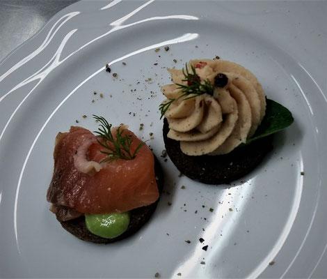 Forellencreme und geräucherter Lachs ~ Kleiner Gruß aus der Küche