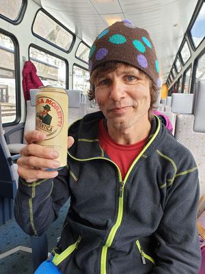 Das verdiente Bier nach der Tour