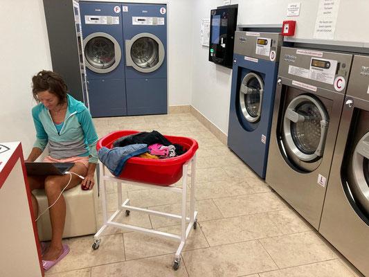 Auch Kleider waschen muss nach drei Wochen mal sein...