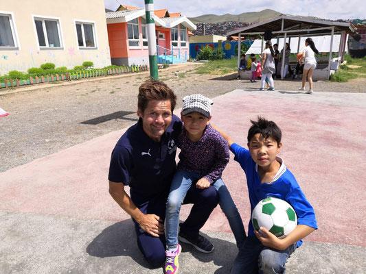 Mit Fussball ohne Grenzen in der Mongolei