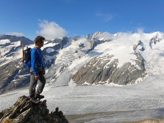 Blick auf den Gauligletscher vom Chammligrat