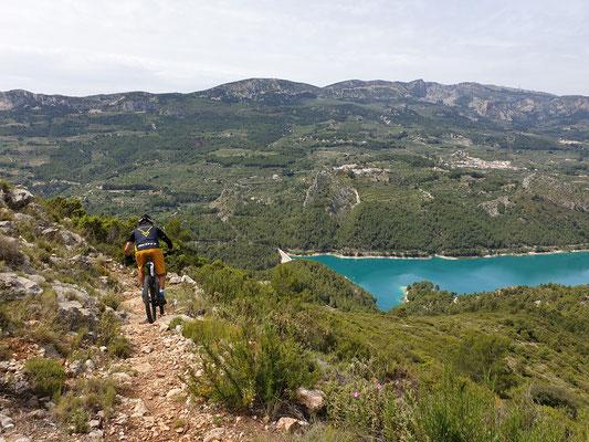 einsame Trails bei Guadalest