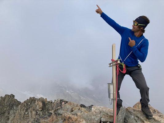 Auf dem Gipfel des Hangendgletscherhorn