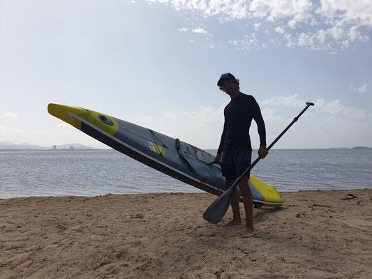 kein Wind zum kiten, also ab aufs SUP