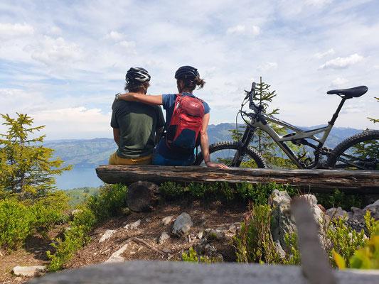 Austreten der Beine am Samstag beim Biken