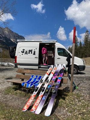 Chillen nach der Skitour...