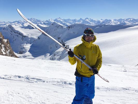 Erste Tour mit den neuen Skis...