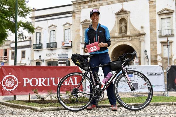 beim Check-In ein Tag vor dem Start in Faro