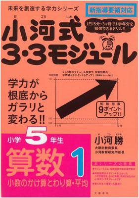 『未来を創造する学力シリーズ 小河式3・3モジュール 5年生算数1』