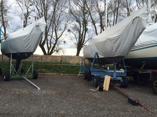 die Windspiel und die elisabeth2 im Winterlager