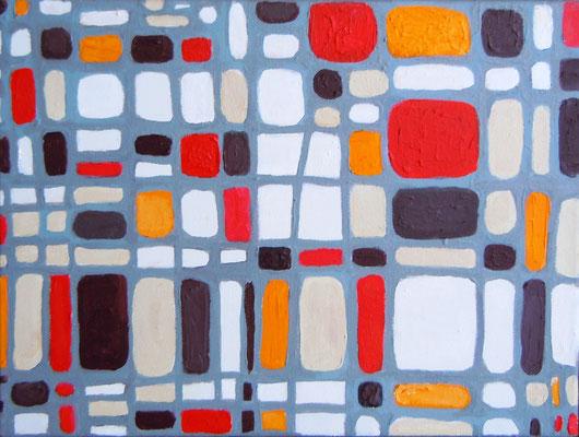 """Traffic, acrylic on canvas board, 8 x 12"""""""