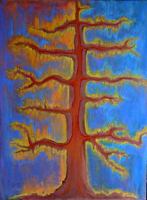 "Tree of Life, acrylic on canvas, 40 x 30"""
