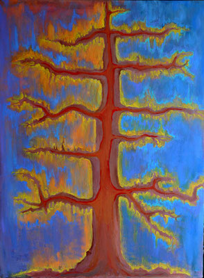 Tree of Life, acrylic on canvas, 40 x 30""