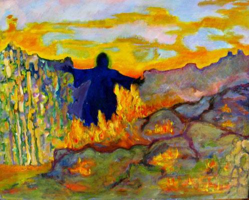 "Spirit Walker, acrylic on canvas, 24 x 28"""