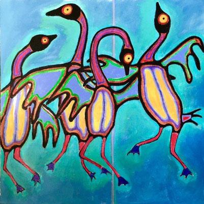 Dancing Geese