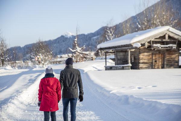 Winterwanderweg am Wilden Kaiser