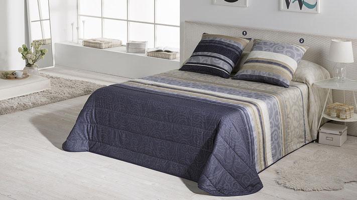 Bouti Modelo Clio (Disponible en Azul y Malva) Tambien en Funda Nordica y Edredon Ajustable. Medidas y precios disponibles para camas de: 90cm (103€) 105cm (106€) 135cm (122€) 150cm (125€) 180cm (12