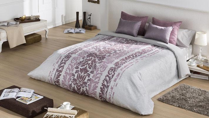 Funda Nordica Jacquard Modelo Toscana (Disponible en Malva, Plata y Oro) Tambien en Bouti y Colcha Edredon. Medidas y precios disponibles para camas de: 135cm (115€) 150cm (119€) 180cm (129€)