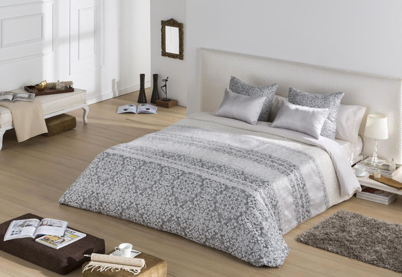 Funda Nordica Jacquard Modelo Siena (Disponible en Plata, Malva y Oro) Tambien en Colcha Edredon y Bouti. Medidas y precios disponibles para camas de: 90cm (96€) 105cm (99€) 135cm (108€) 150cm (112€) 180cm (125€)