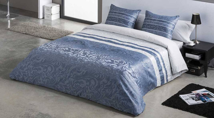Funda Nordica Jacquard Modelo PAOLA (Disponible en Azul, Plata y Malva) Tambien en Funda Nordica. Medidas y precios disponibles para camas de: 90cm (99€) 105cm (107€) 135cm (115€) 150cm (120€) 180cm (130€)