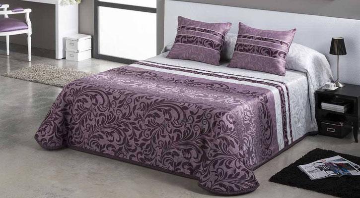 Bouti Jacquard Modelo PAOLA (Disponible en Malva, Plata y Azul) Tambien en Funda Nordica. Medidas y precios disponibles para camas de: 90cm (129€) 105cm (130€) 135cm (136€) 150cm (139€) 180cm (145€)